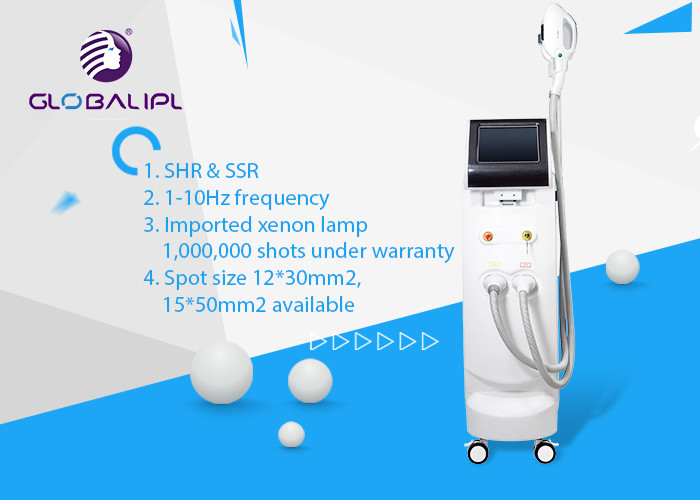 IPL SHR Body Hair Removal Machine 1 - 10 Hz Frequency 1 - 50J/Cm2 Energy Density